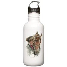 Vintage Girl And Horse Water Bottle