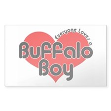 Everyone Loves a Buffalo Boy Rectangle Decal