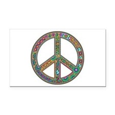 Peace Zentangle Rectangle Car Magnet