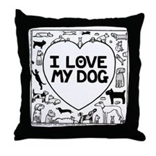 I Love My Dog - Throw Pillow