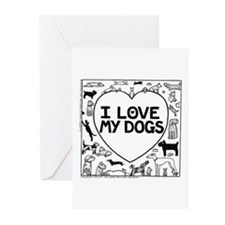I Love My Dogs - Greeting Cards (Pk of 20)