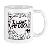I Love My Dogs -  Tasse