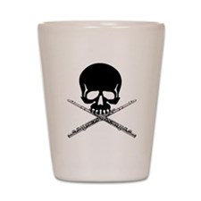 Skull with Flutes Shot Glass
