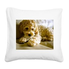 The Cockapoo Puppy Square Canvas Pillow