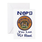 NOPD You Loot We Shoot Greeting Cards (Pk of 10)