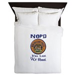 NOPD You Loot We Shoot Queen Duvet