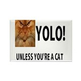 YOLO! Unless You're A Cat Rectangle Magnet