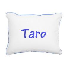 Taro Custom Blue 47 Canvas Throw Pillow Rect.