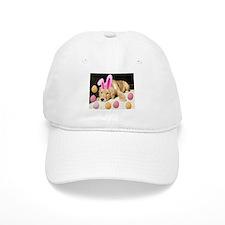 Happy Easter Golden Retriever Puppy Baseball Cap