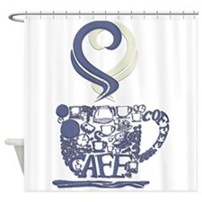 Coffee Cup Art Shower Curtain