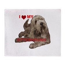otterhound Throw Blanket