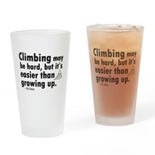 'Climbing Quote' Drinking Glass