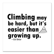 "'Climbing Quote' Square Car Magnet 3"" x 3"""