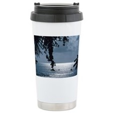 Sailboats on shimmering Caribbe Ceramic Travel Mug