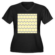 Yellow and Gray Pattern. Plus Size T-Shirt