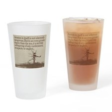 "WWI ""Plane in a Tree"" Drinking Glass"