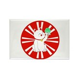 Maneki Neko Tokyo Cat Rectangle Magnet