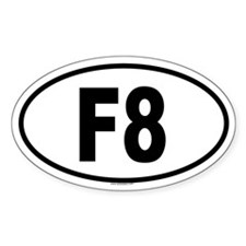 F8 Oval Decal