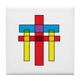 The Crucifixion Tile Coaster