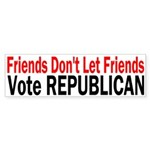 Friends Vote Republican Bumper Sticker