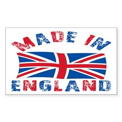 Made In England Rectangle Sticker