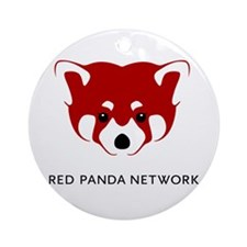 Red Panda Network Ornament (Round)