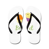 Easter Chick Bridget Flip Flops