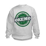 Ski Resort Vermont Dark Green Sweatshirt