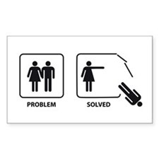 Female's Problem Solved Decal