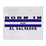 Born In El Salvador Throw Blanket