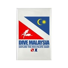 Dive Malaysia Rectangle Magnet