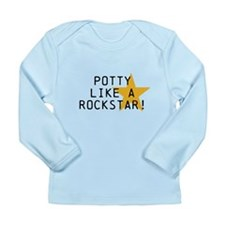 Potty Like Rock Star Long Sleeve Infant T-Shirt