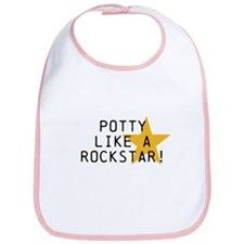 Potty Like Rock Star Bib