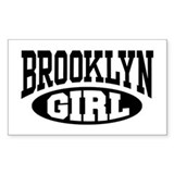 Brooklyn Girl Rectangle Decal