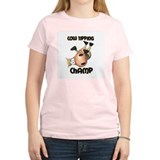 Cow Tipping Champ Women's Pink T-Shirt