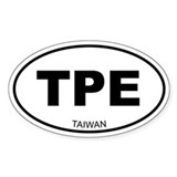 Taiwan (Chinese Teipei) Oval Decal