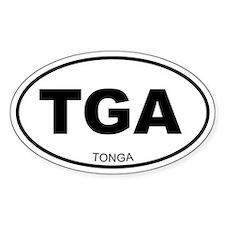 Tonga Oval Decal
