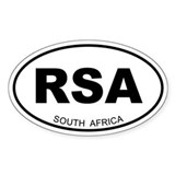 South Africa Oval Decal