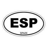 Spain (Espana) Oval Decal