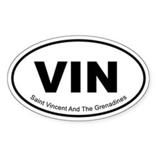Saint Vincent And The Grenadines Oval Decal