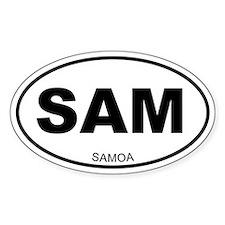 Samoa Oval Decal