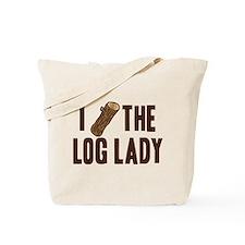 I Love The Log Lady Twin Peaks Tote Bag