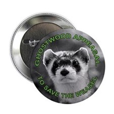 """Appease The Pine Weasel Twin Peaks 2.25"""" Button"""