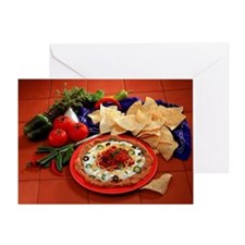 Bean dip and chips Greeting Card