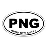 Papua New Guinea Oval Decal