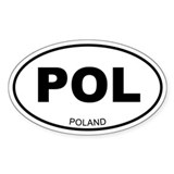 Poland Oval Decal