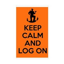 Keep Calm and Log On - orange Decal