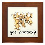 Got Cooties? Framed Tile