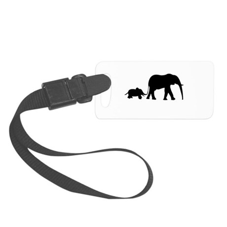 Elephant Motif Mother and child Small Luggage Tag