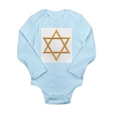Star of David for Passover Long Sleeve Infant Body